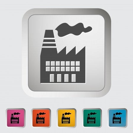 Factory. Single icon. Vector illustration. Vector