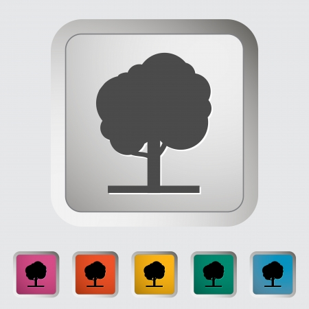 Tree. Single icon. Vector illustration. Stock Vector - 18564068