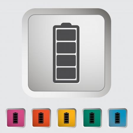 Full battery  Single icon  Vector illustration  Stock Vector - 18650159