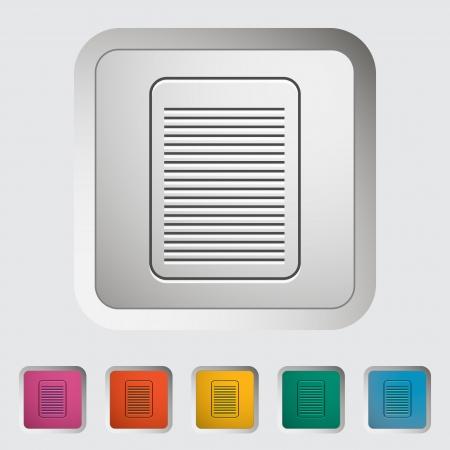 Document single icon  Stock Vector - 18850195