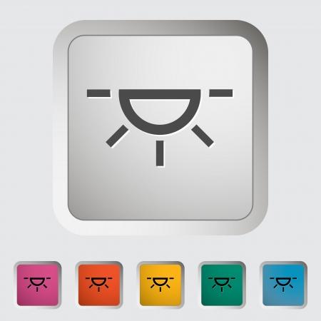 xenon: Xenon car lamp icon   Illustration