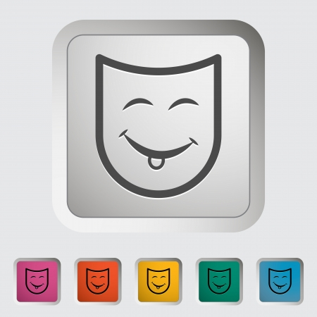 Theatrical mask. Single icon Vector