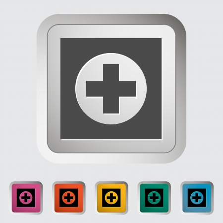 Hospital. Single icon illustration. Stock Vector - 18850126