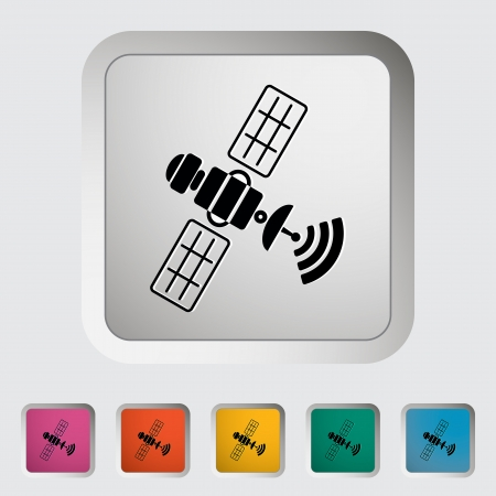 satellite in space: Satellite. Single icon