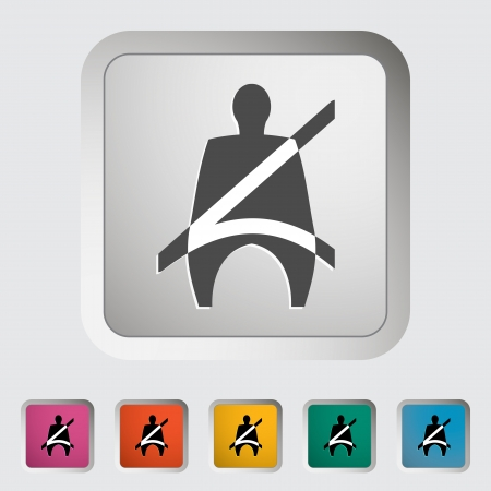 Seat belt. Single icon Stock Vector - 18850117