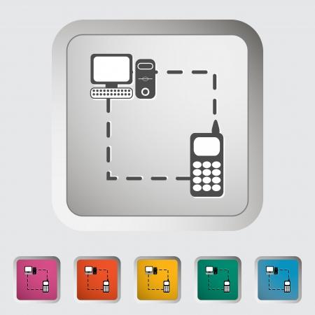 in sync: Phone sync single icon