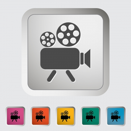 Videocamera. Single icon Stock Vector - 18850181