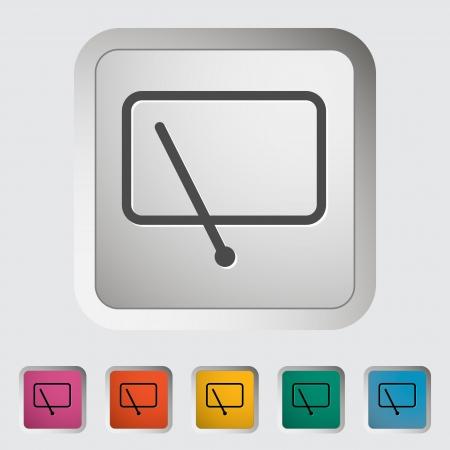 windshield wiper: Car icon wiper Illustration