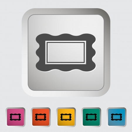 Picture frame. Single icon. Vector illustration. Vector