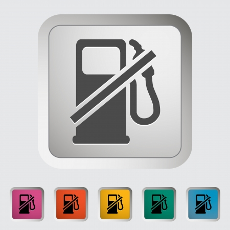 Fuel. Single icon. Vector illustration. Stock Vector - 19210813