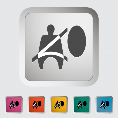 Seat belt. Single icon. Vector illustration. Stock Vector - 19210809