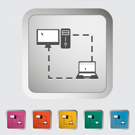 Phone sync single icon. Vector illustration. Stock Vector - 19210849