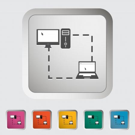 sync: Phone sync single icon. Vector illustration.