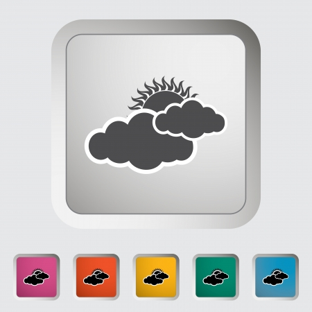 cloudiness: Cloudiness single icon. Vector illustration.