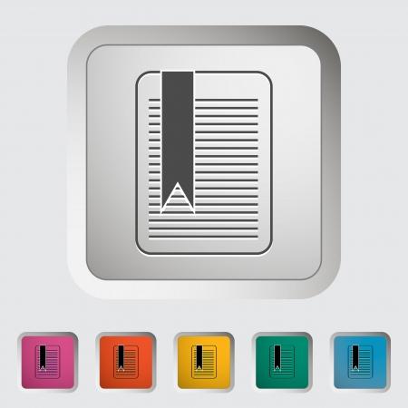 Bookmark. Single icon. Vector illustration. Stock Vector - 19210814