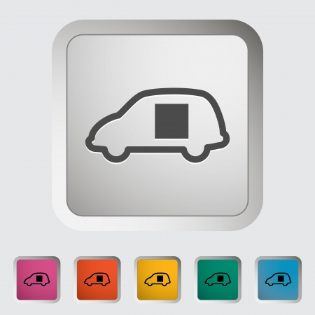 Car sliding door  Single icon  Vector illustration  Vector