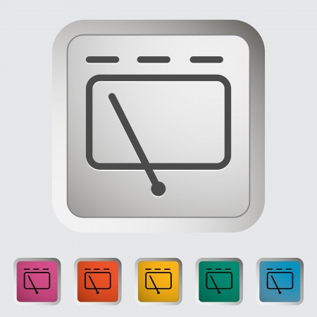 windscreen: Car icon wiper  Vector illustration