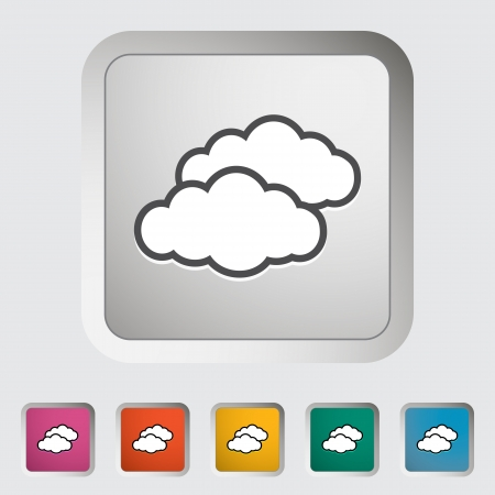 overcast: Overcast single icon  illustration  Illustration