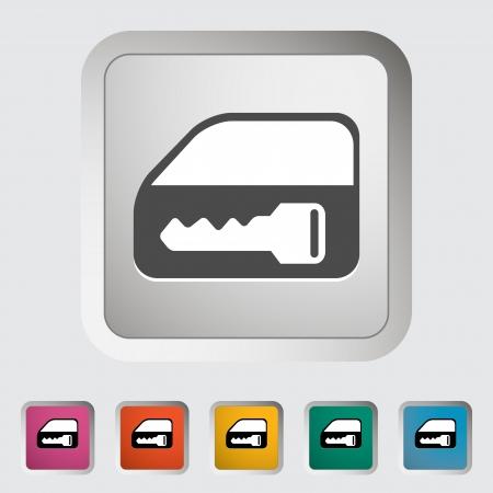 Window lock  Single icon illustration  Vector