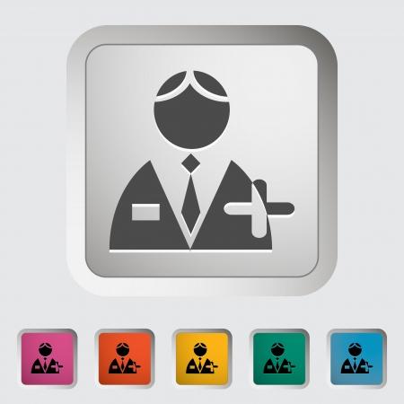 Person single icon illustration Stock Vector - 20299586