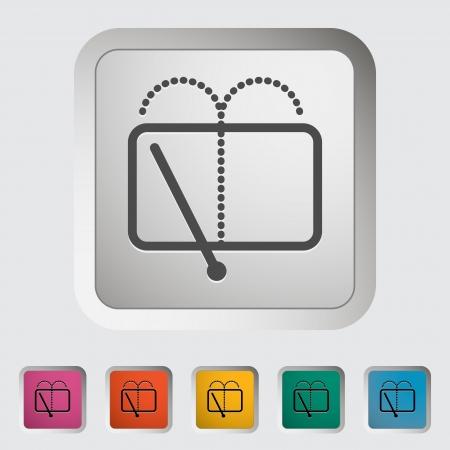 wiper: Car icon wiper  illustration  Illustration