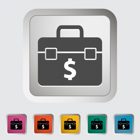 Briefcase single icon  illustration  Stock Vector - 20299593
