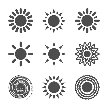 Sun icon  illustration  Vector