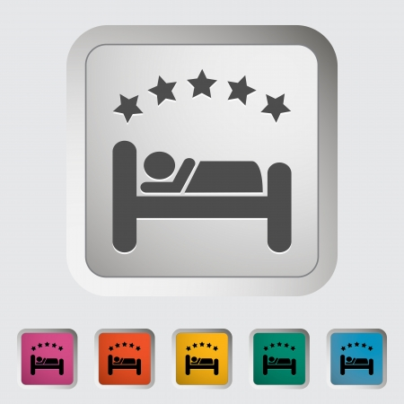 Hotel single icon. Vector