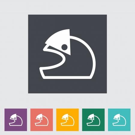Motorcycle helmet. Vector illustration EPS. Vector