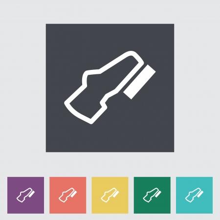 adjustable: Adjustable pedal. Flat Single icon. Vector illustration. Illustration