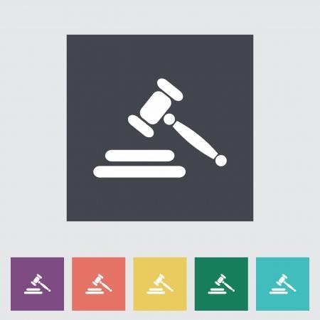 Auction gavel flat icon. Vector illustration Vector