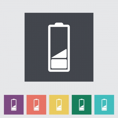 Charging the battery, flat single icon. Vector illustration. Stock Vector - 21025750