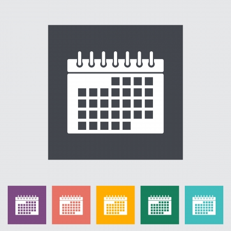 calendar background: This vector illustration of a calendar flat icon.