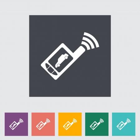 remote lock: A distancia Car icono plana control. Ilustraci�n del vector. Vectores