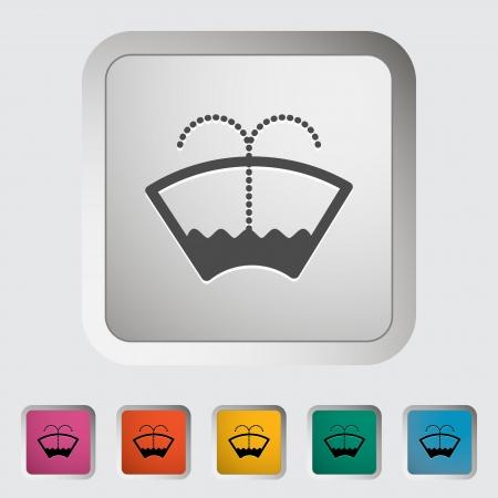 windscreen: Car icon wiper. Vector illustration.