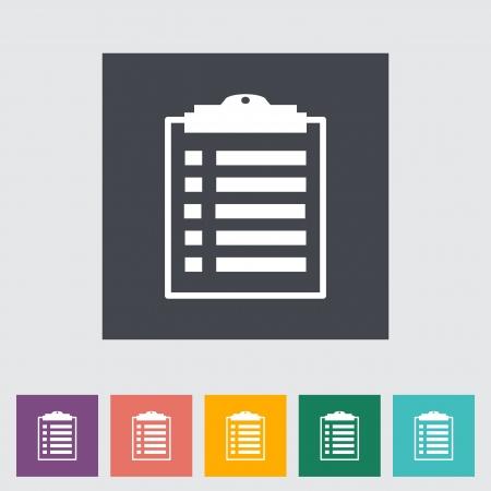 Clipboard flat icon. Vector illustration. Stock Vector - 21025875