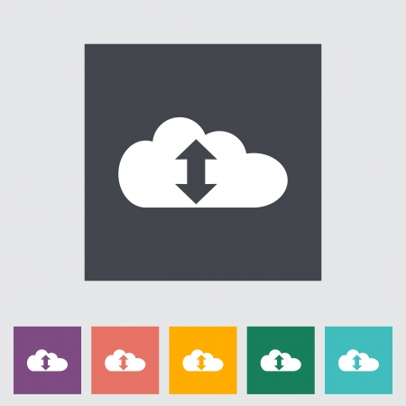 Cloud computing flat icon. Vector illustration. Vector