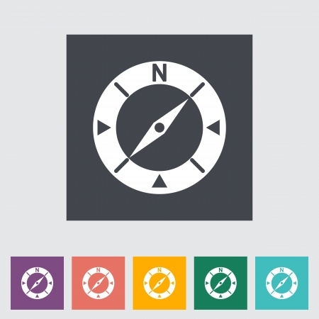Compass flat icon. Vector illustration. Vector