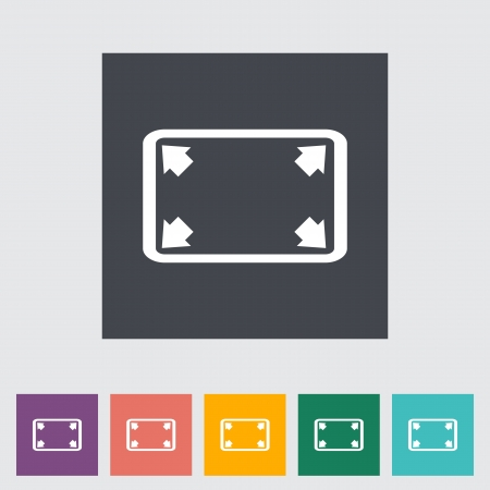 Deploying video flat icon. Vector illustration. Vector