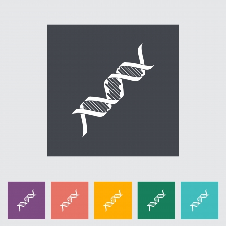 DNA flat icon. Vector illustration EPS. Stock Vector - 21025897