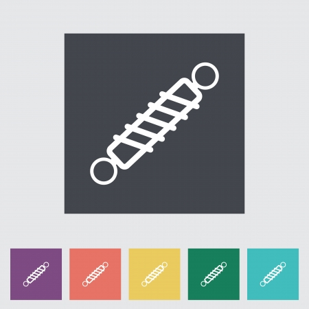 Automobile shock absorber flat single icon. Vector illustration. Vector