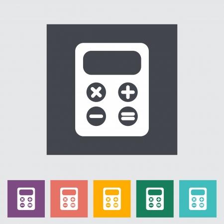 maths department: Calculator flat icon. Vector illustration EPS.