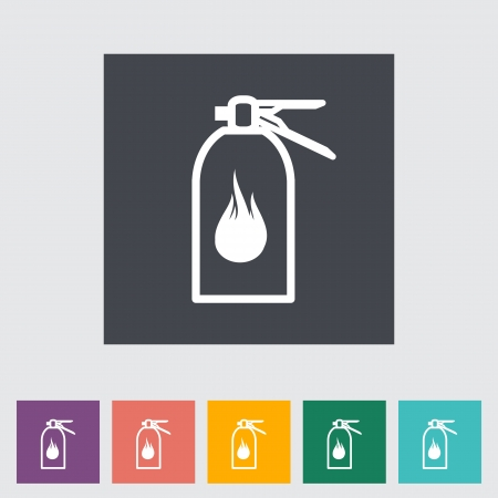 Fire extinguisher flat icon. Vector illustration. Stock Vector - 21026031