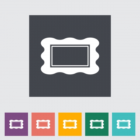 Picture frame. Single flat icon. Vector illustration. Vector