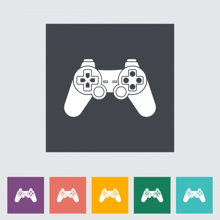 player controls: Game single flat icon. Vector illustration.