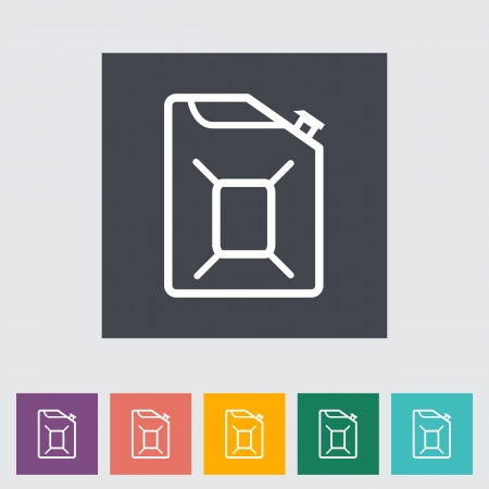 Gas Containers flat icon. Vector illustration. Stock Vector - 21026098