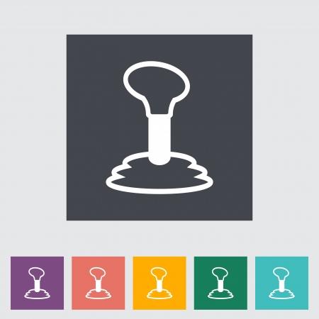 gearshift: Gearbox flat single icon. Vector illustration.
