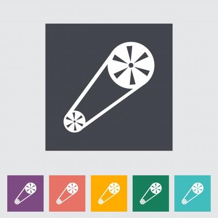 timing: Timing belt flat icon. Vector illustration.