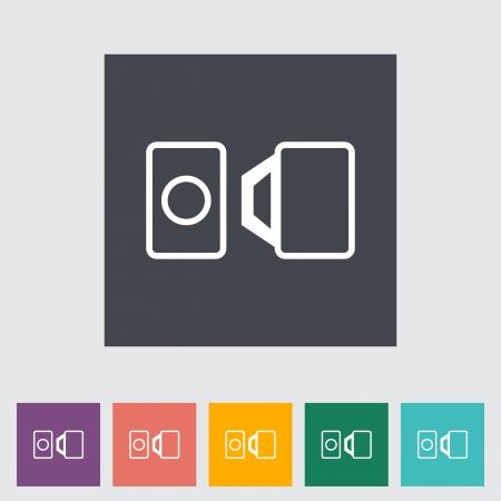 Belt flat single icon. Vector illustration. Stock Vector - 21011398