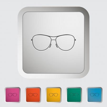Sunglasses. Single icon. Vector illustration. Stock Vector - 21026135